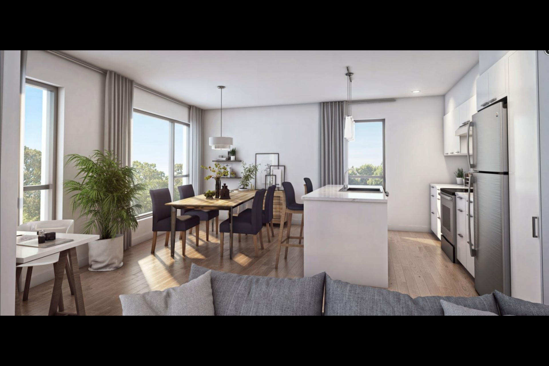 image 3 - Apartment For sale Montréal Rosemont/La Petite-Patrie  - 6 rooms