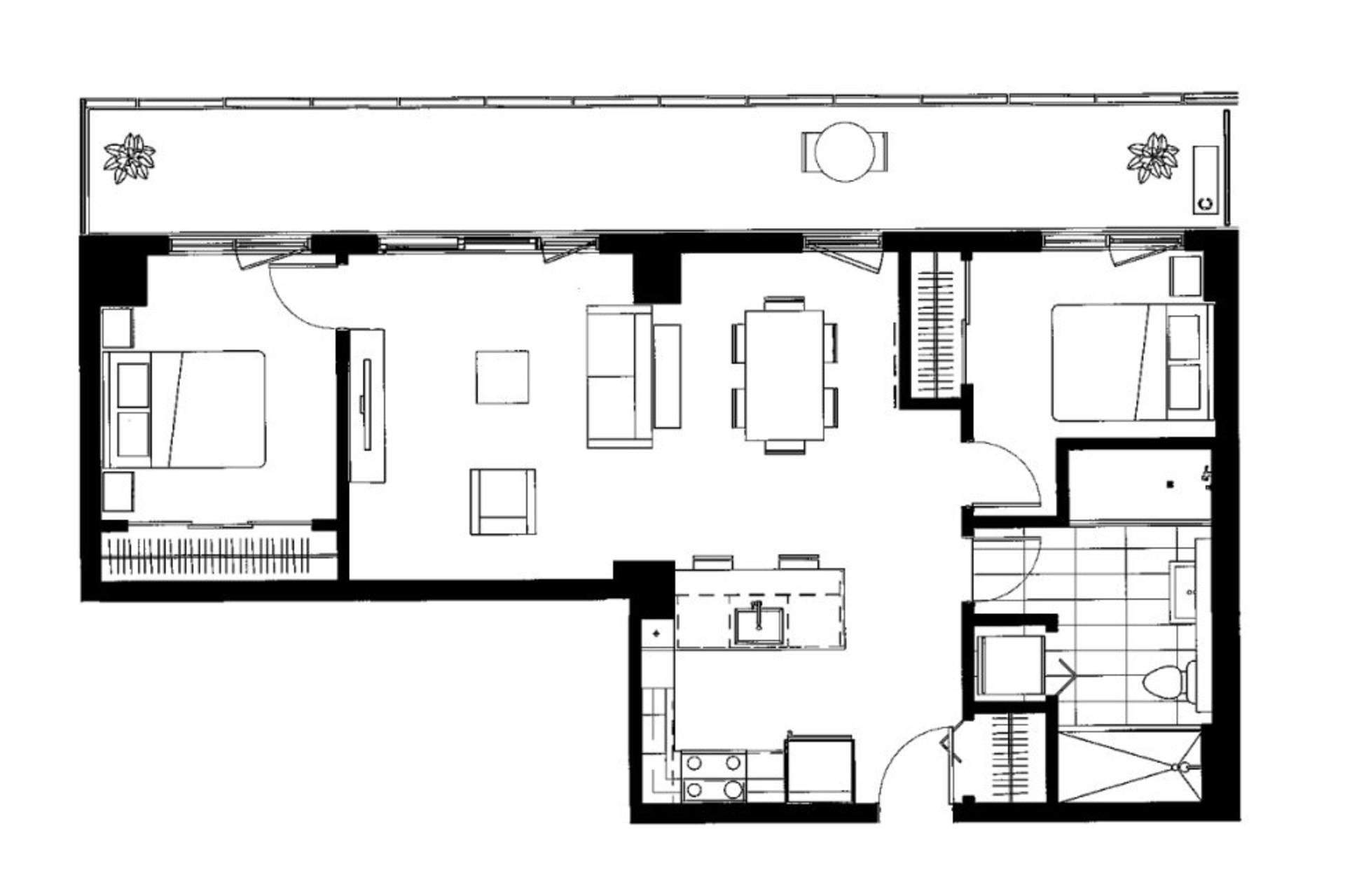 image 24 - Apartment For rent Le Sud-Ouest Montréal  - 2 rooms