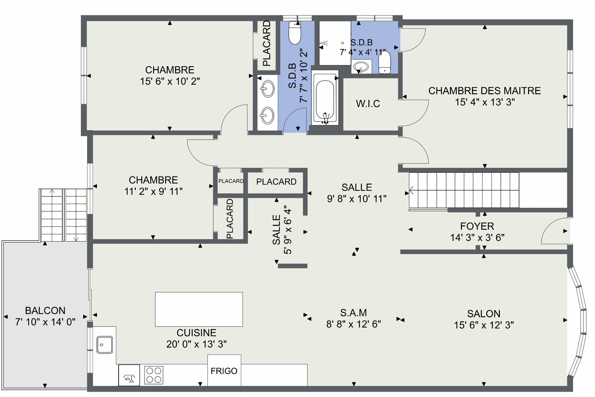 image 43 - Duplex À vendre Saint-Laurent Montréal  - 5 pièces