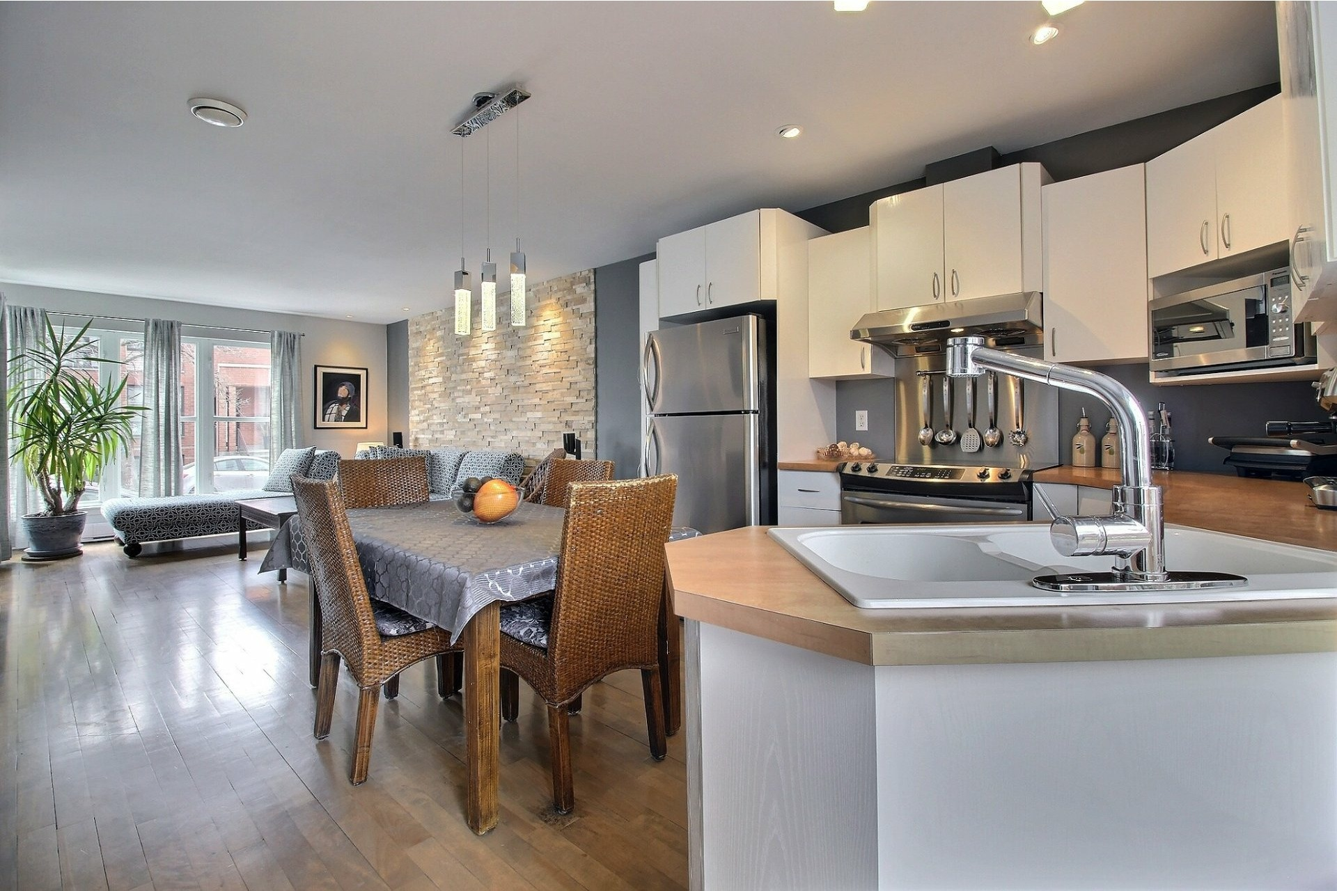 image 8 - House For sale Mercier/Hochelaga-Maisonneuve Montréal  - 7 rooms