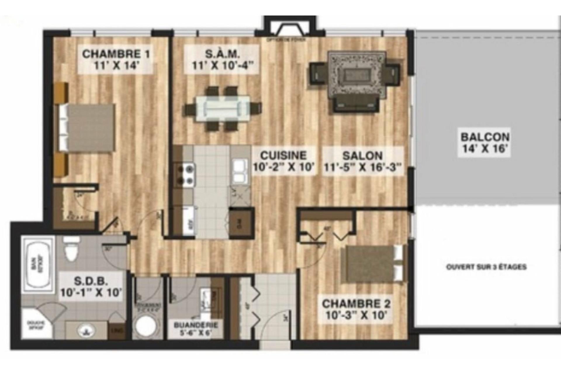image 19 - Apartment For sale Blainville - 8 rooms