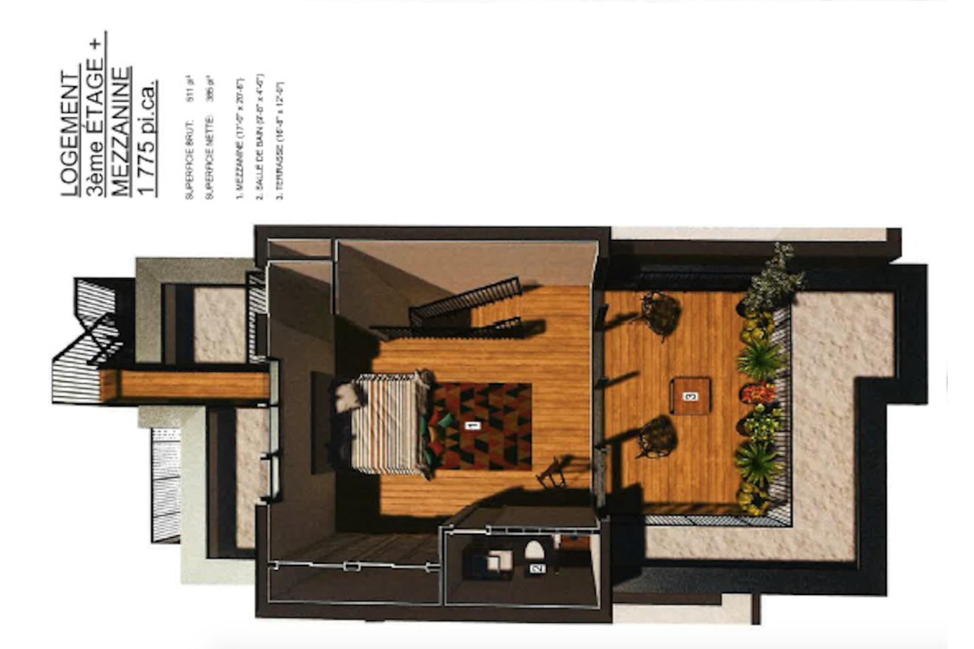 image 2 - Apartment For sale Mercier/Hochelaga-Maisonneuve Montréal  - 8 rooms