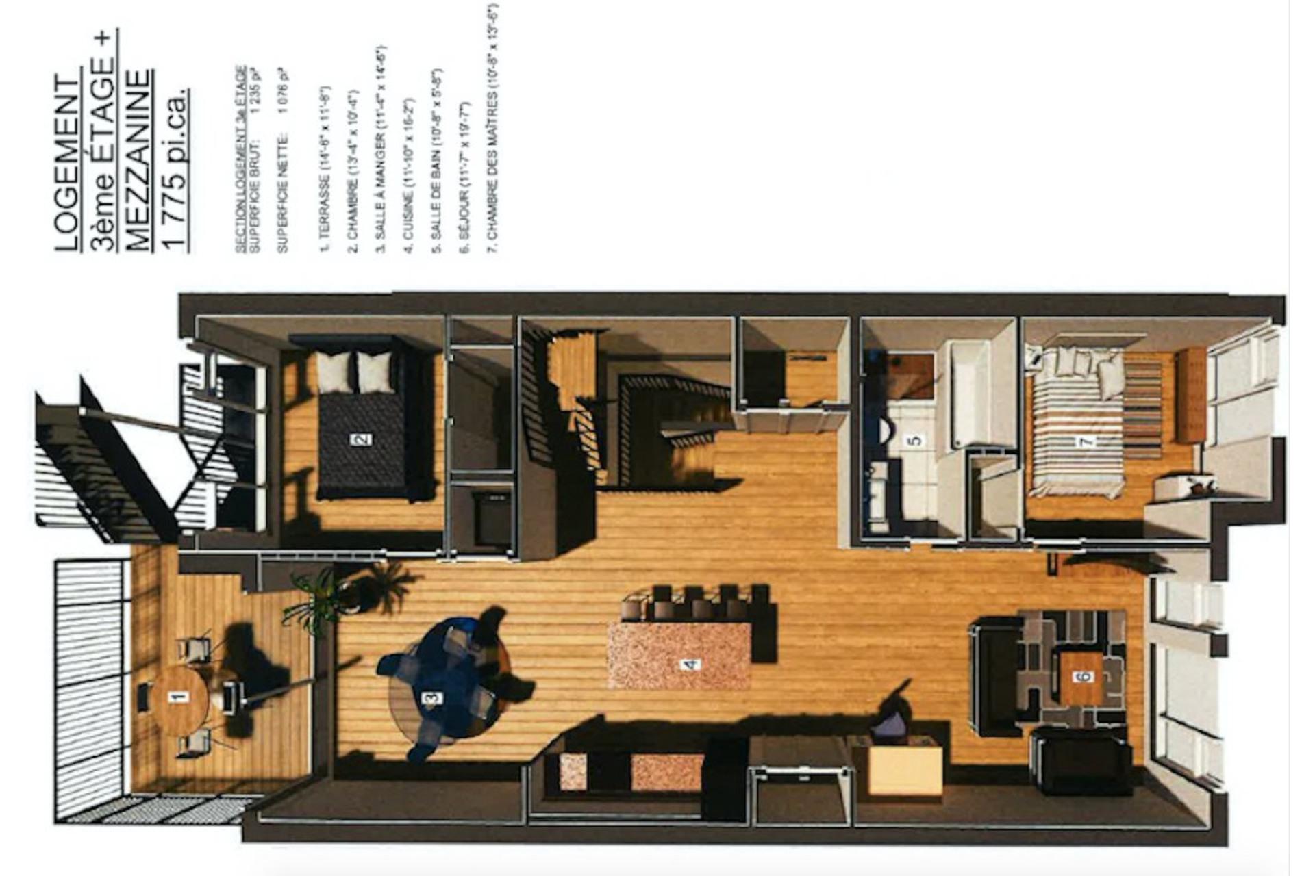 image 1 - Apartment For sale Mercier/Hochelaga-Maisonneuve Montréal  - 8 rooms