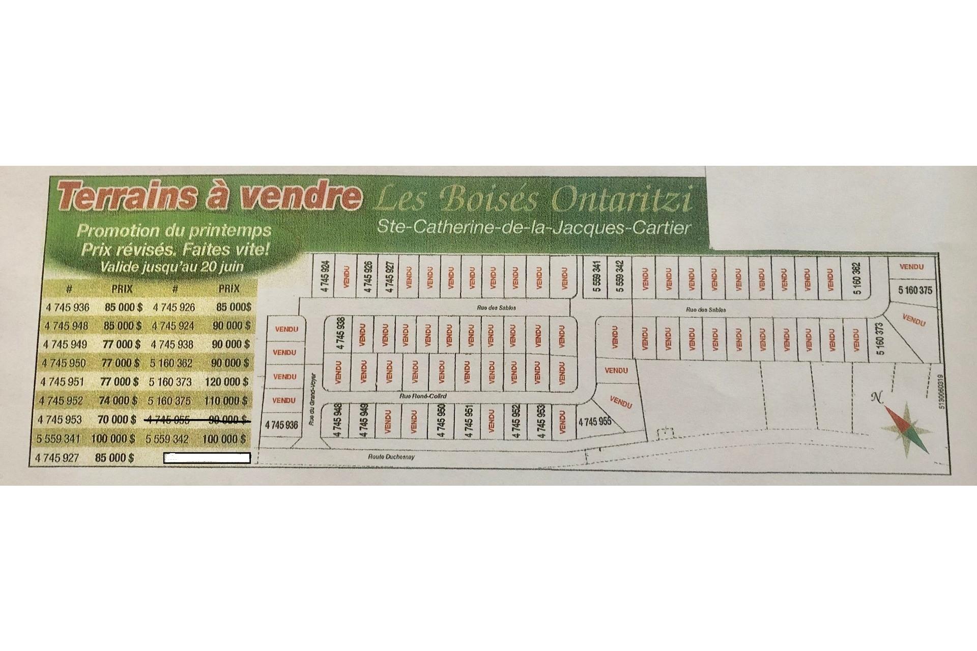 image 9 - Land For sale Sainte-Catherine-de-la-Jacques-Cartier