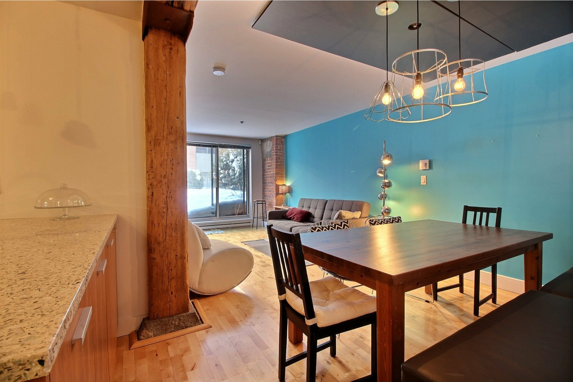 image 1 - Apartment For rent Mercier/Hochelaga-Maisonneuve Montréal  - 5 rooms