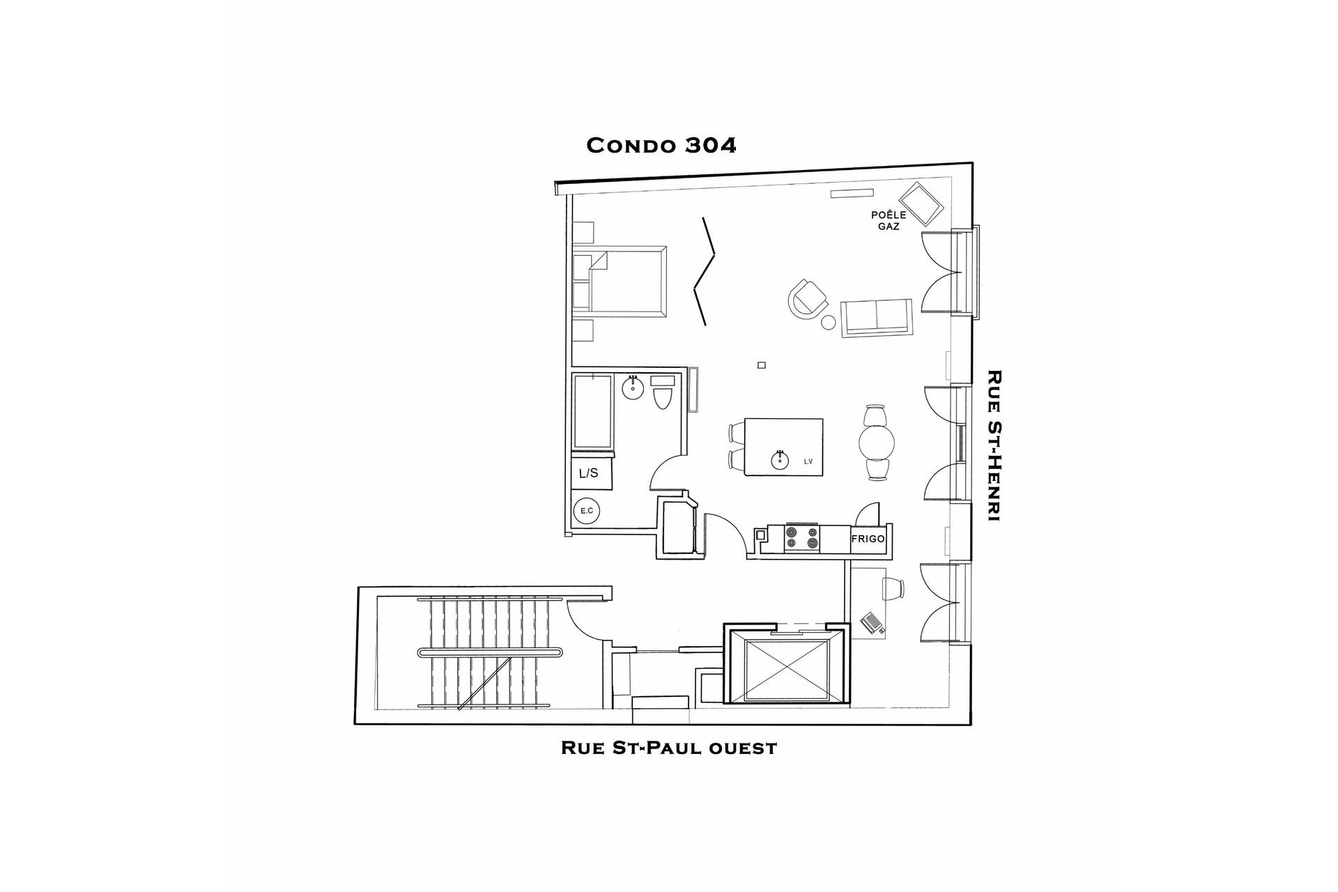 image 12 - Appartement À louer Ville-Marie Montréal  - 4 pièces