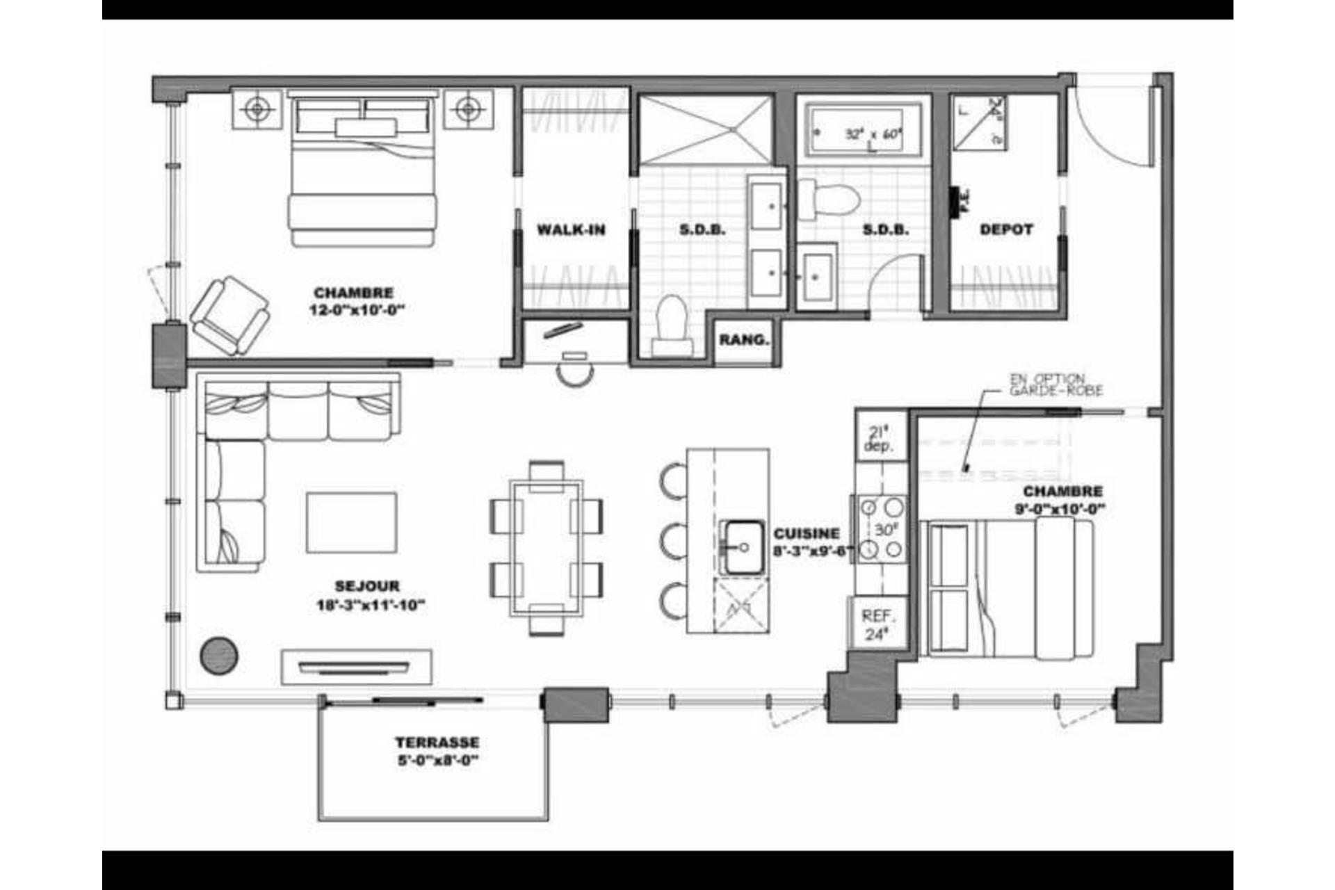 image 15 - Apartment For sale Le Sud-Ouest Montréal  - 7 rooms