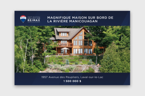 The RE/MAX Collection Postcard with addresses