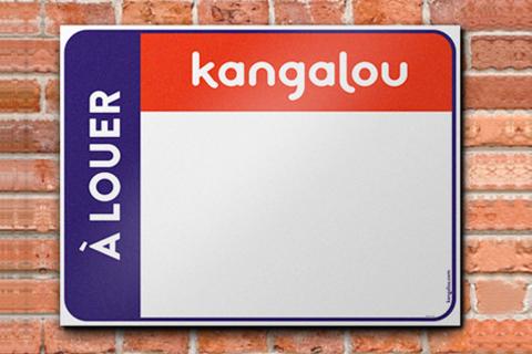 Affiche à louer Kangalou - Aucun texte