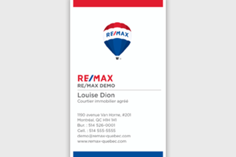 RE/MAX Business Cards