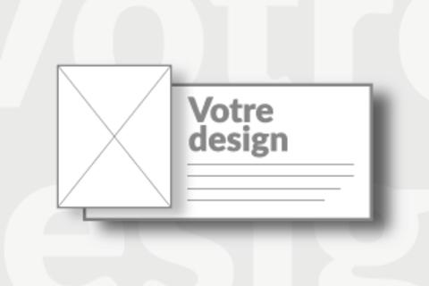 Carton horizontal vierge
