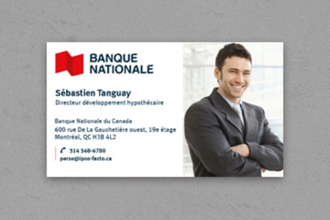 Cartes d'affaires avec photos Bilingue