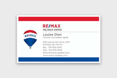 Cartes d'affaires RE/MAX