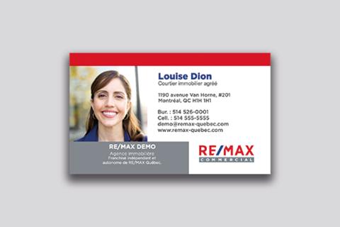 Cartes d'affaires RE/MAX Commercial