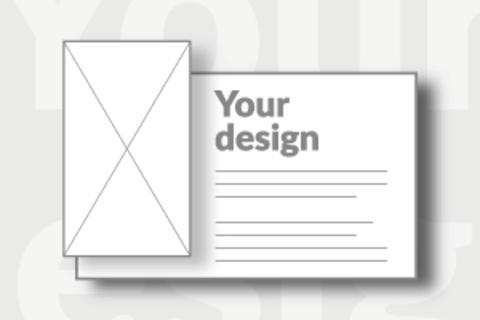Blank Mini postcard