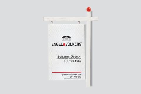 Pancarte Engel & Völkers réfléchissante