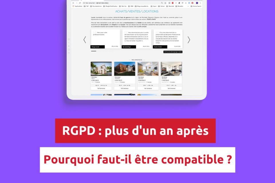 RGPD plus d'un an après : pourquoi faut-il être compatible ?