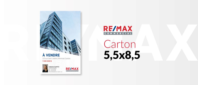 RE/MAX COMMERCIAL - Carton 5,5x8,5