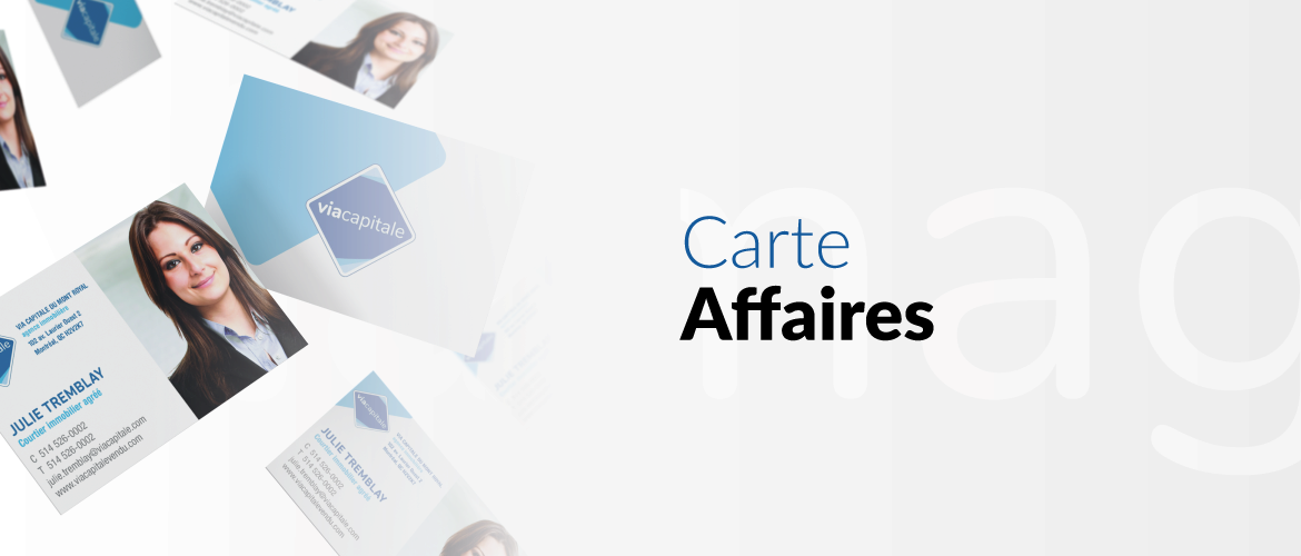 Cartes d'affaires Viamag