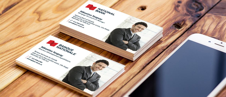 Cartes d'affaires avec photos