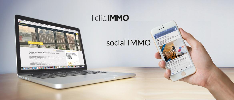 Social Immo + 1clic.IMMO