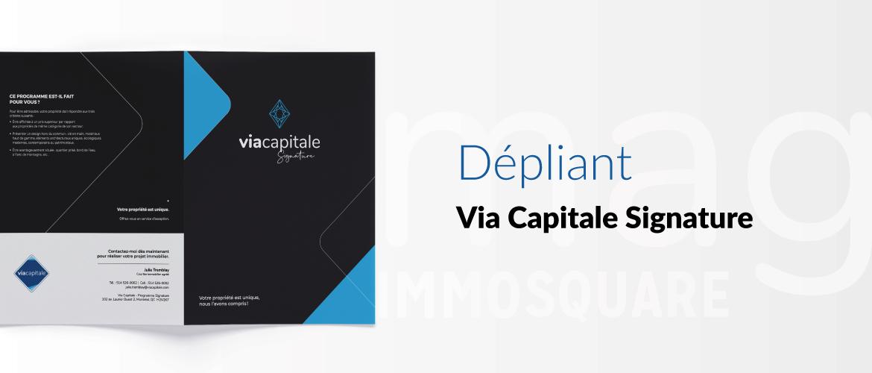 Dépliant programme Via Capitale Signature