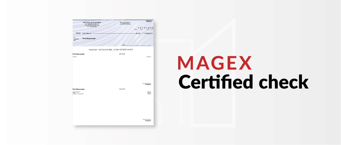 Magex Certified Cheque Compatible for Proprio Expert Web