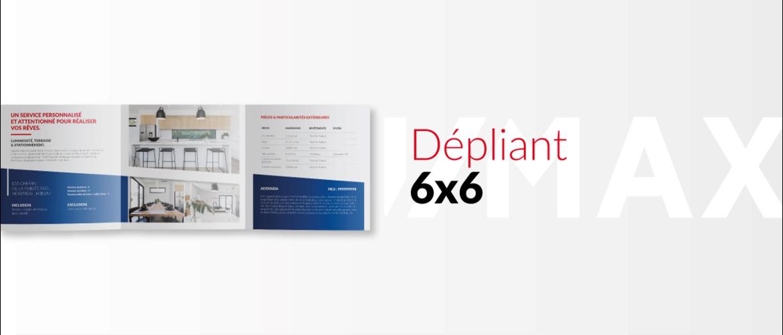 Le Dépliant carré 6x6