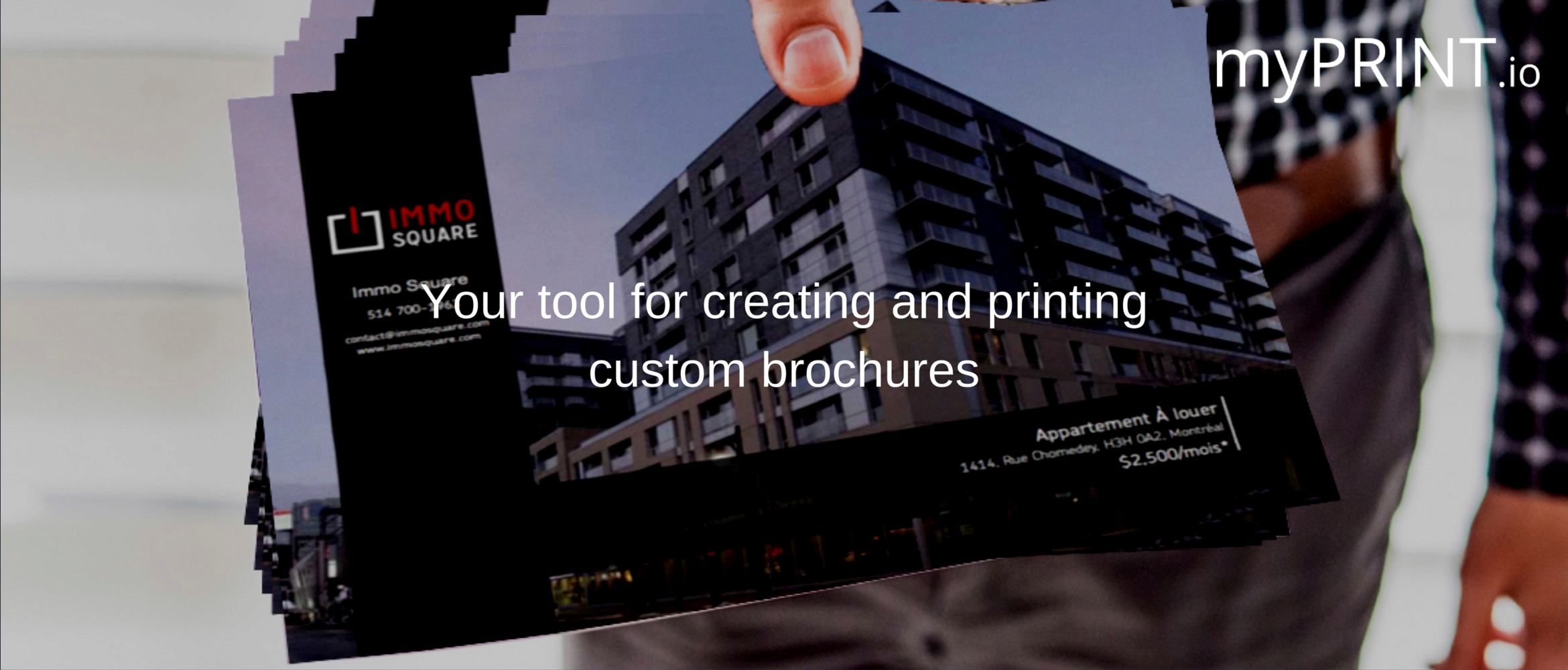 MyPrint : highlight your ads with our customizable brochures !
