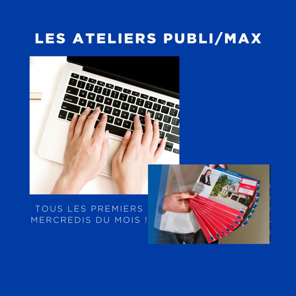 Les ateliers gratuits PUBLI/MAX