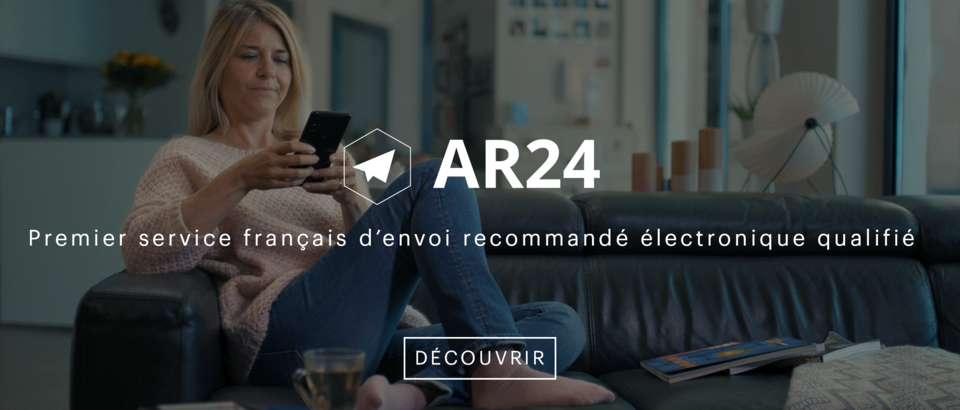 AR24 est une solution d'envoi de lettres recommandées 100% électroniques