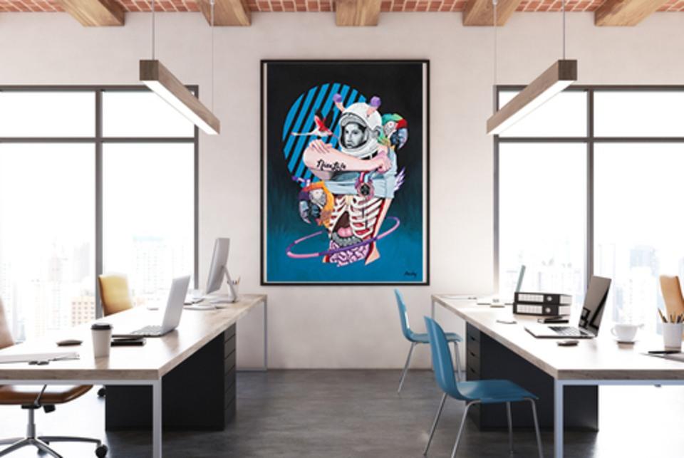 Pourquoi décorer ses bureaux d'entreprise avec une oeuvre d'art sur mesure ?