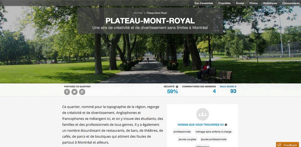Navut : Le localisateur de quartier au Canada