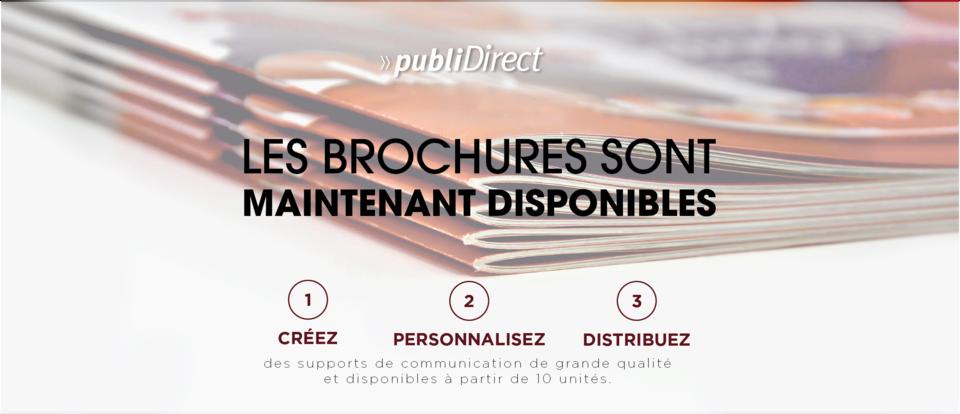 Les Brochures et Dépliant sont arrivés sur PubliDirect.