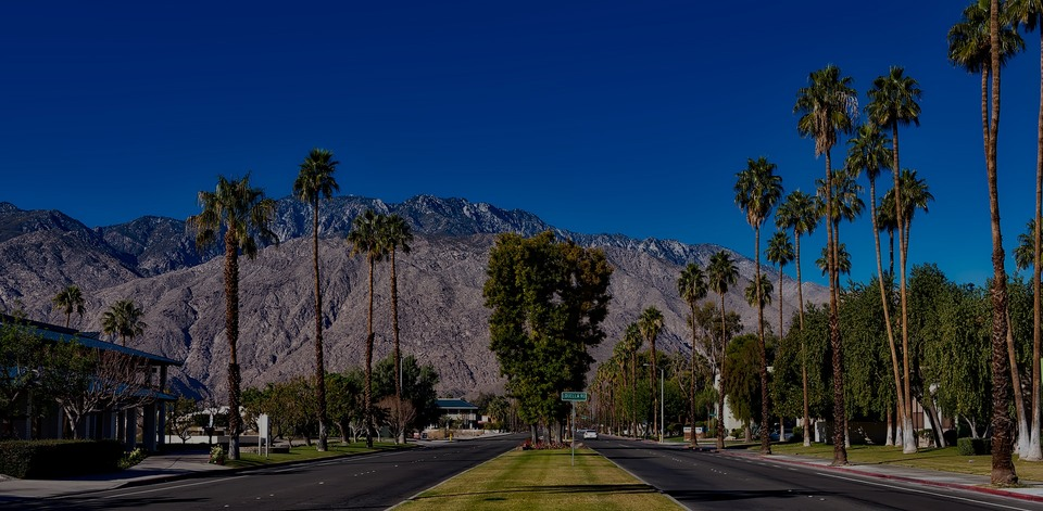 Palm Springs, the luxury real estate hotspot in Los Angeles - California, USA.