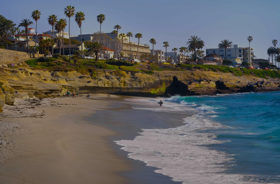 La Jolla, the luxury real estate hotspot in San Diego - California, USA.