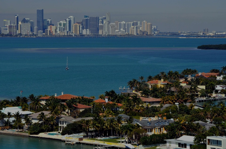 Key Biscayne, the luxury real estate hotspot in Miami - Florida, USA.