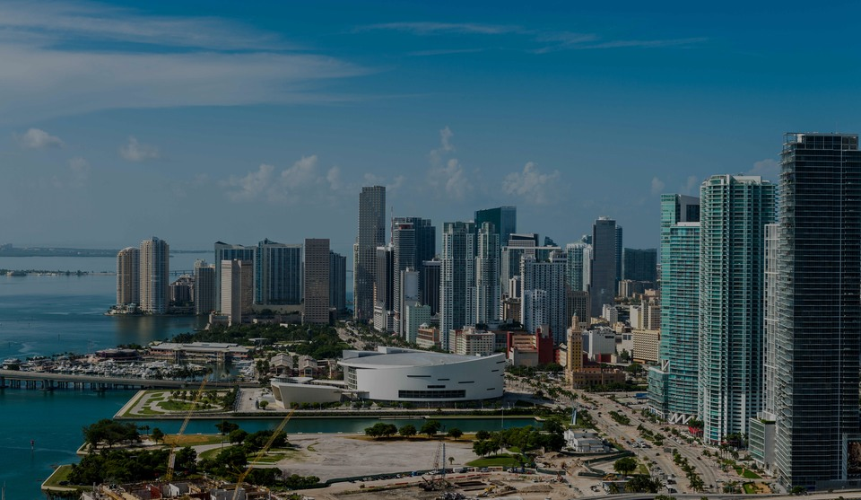 Downtown Miami, the luxury real estate hotspot in Miami - Florida, USA.
