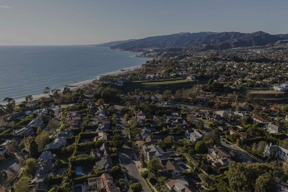 Pacific Palisades, the luxury real estate hotspot in Los Angeles - California, USA.