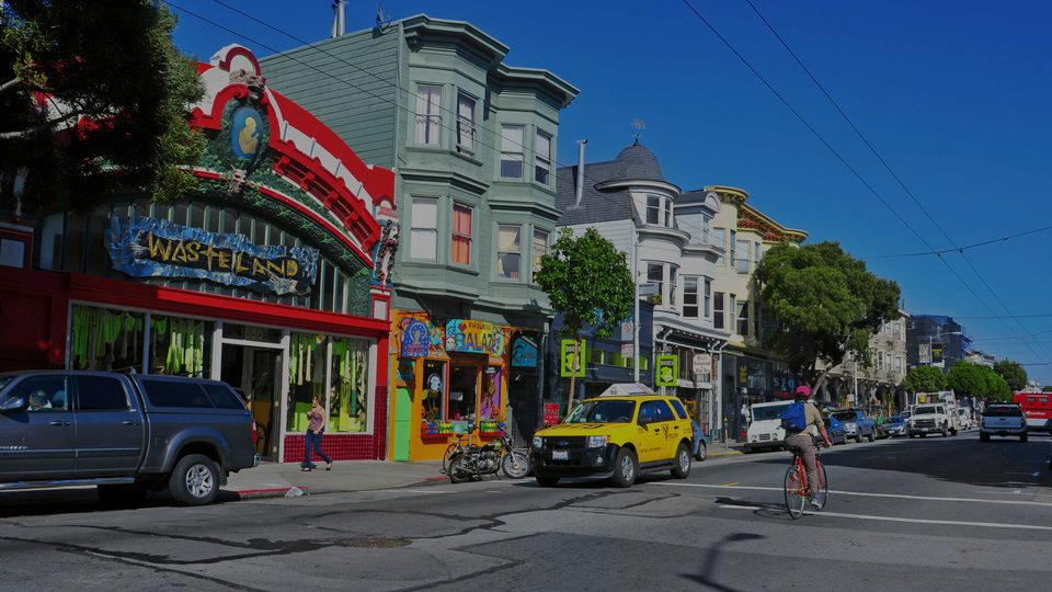 Haight-Ashbury, the luxury real estate hotspot in San Francisco - California, USA.