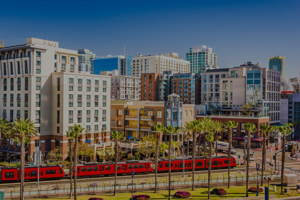 Gaslamp Quarter, the luxury real estate hotspot in San Diego - California, USA.