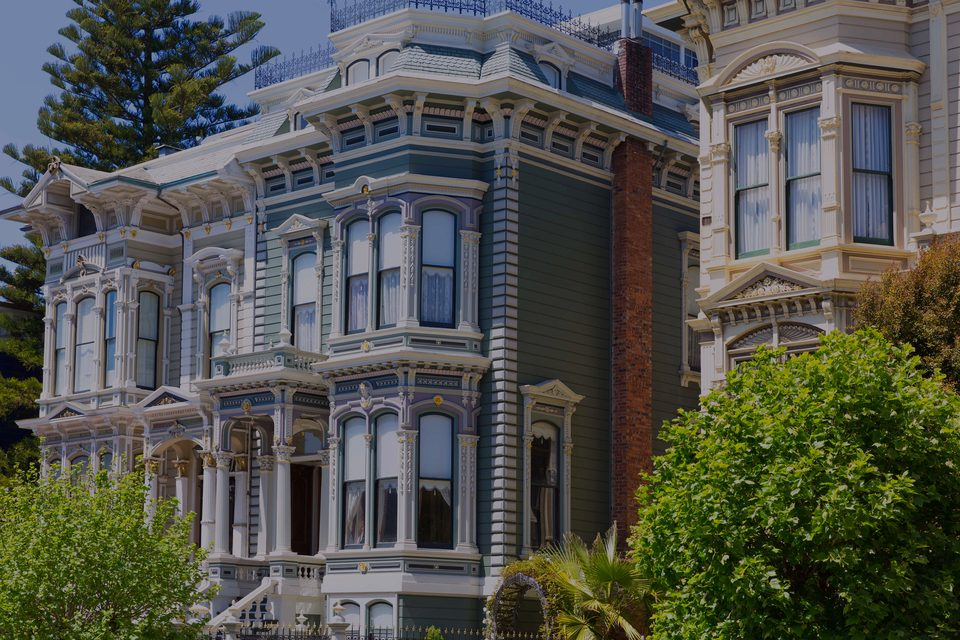 Pacific Heights, the luxury real estate hotspot in San Francisco - California, USA.