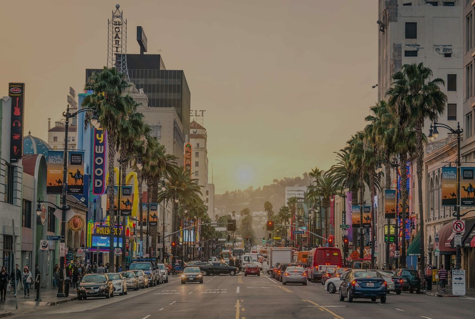 Hollywood, the luxury real estate hotspot in Los Angeles - California, USA.